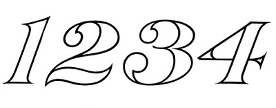 400x156 Vintage Numbers Clip Art Archives