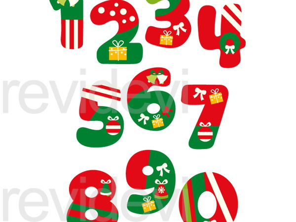600x450 Christmas Numbers Clip Art Graphics By Revidevi