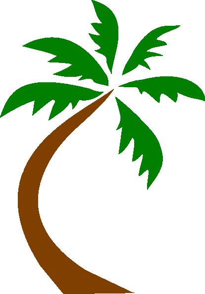 414x593 Palm Tree Curved Clip Art Clip Art
