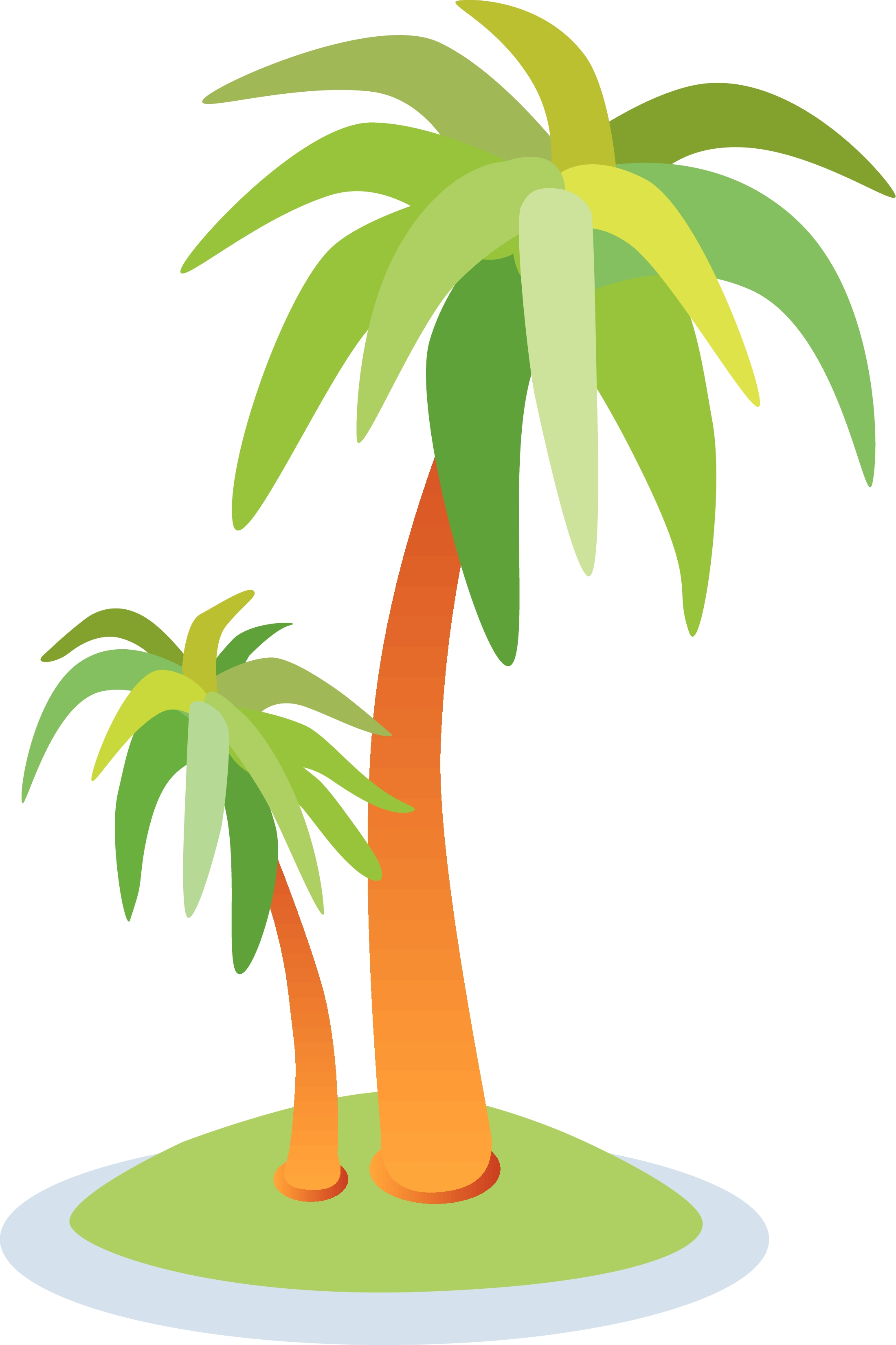 2200x3300 Palm Tree Island Clip Art