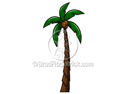432x324 Clip Art Of A Tall Palm Tree Illustration Graphic Royalty Free