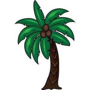 300x300 Coconut Palm Clip Art
