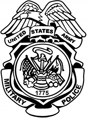 300x409 Military Police Badge Clipart
