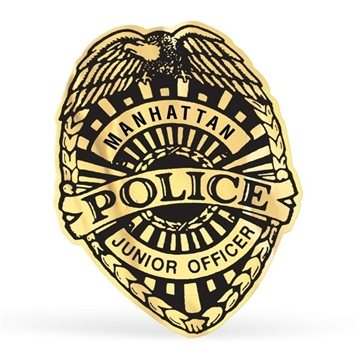 360x360 Personalized Junior Police Badge Stickers