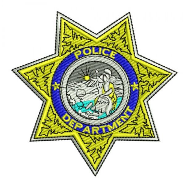 600x600 Star Police Badge Clipart