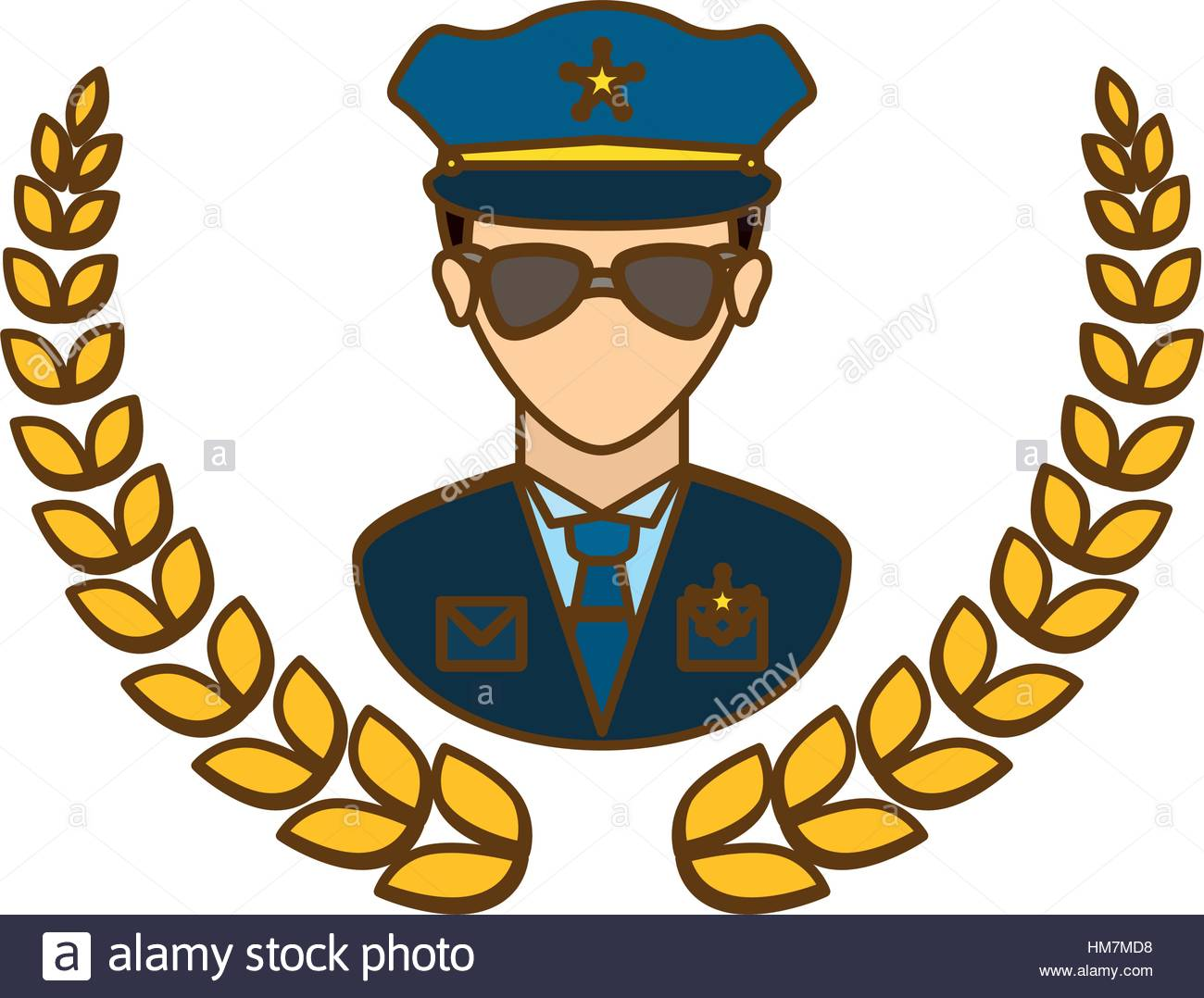 1300x1078 Gold Police Badge Icon Image, Vector Illustration Stock Vector Art