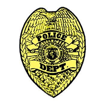 350x350 Gold Police Badge Temporary Tattoo Perfect For Birthdays