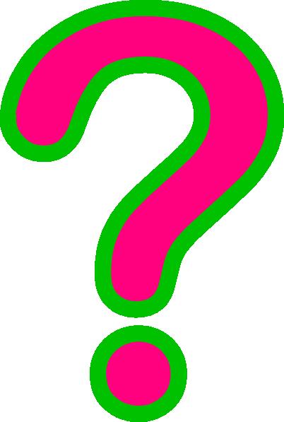 402x597 Pinkgreen Question Mark Clip Art