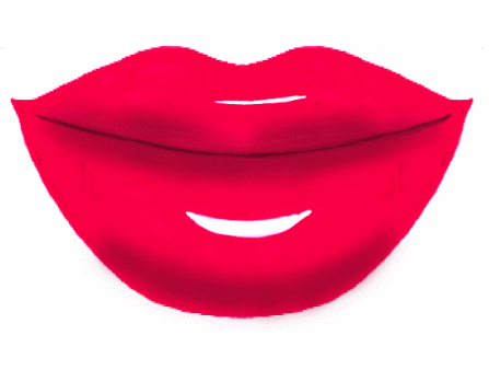 447x338 Big Red Lips Clip Art