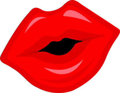414x319 Red Lips Clipart