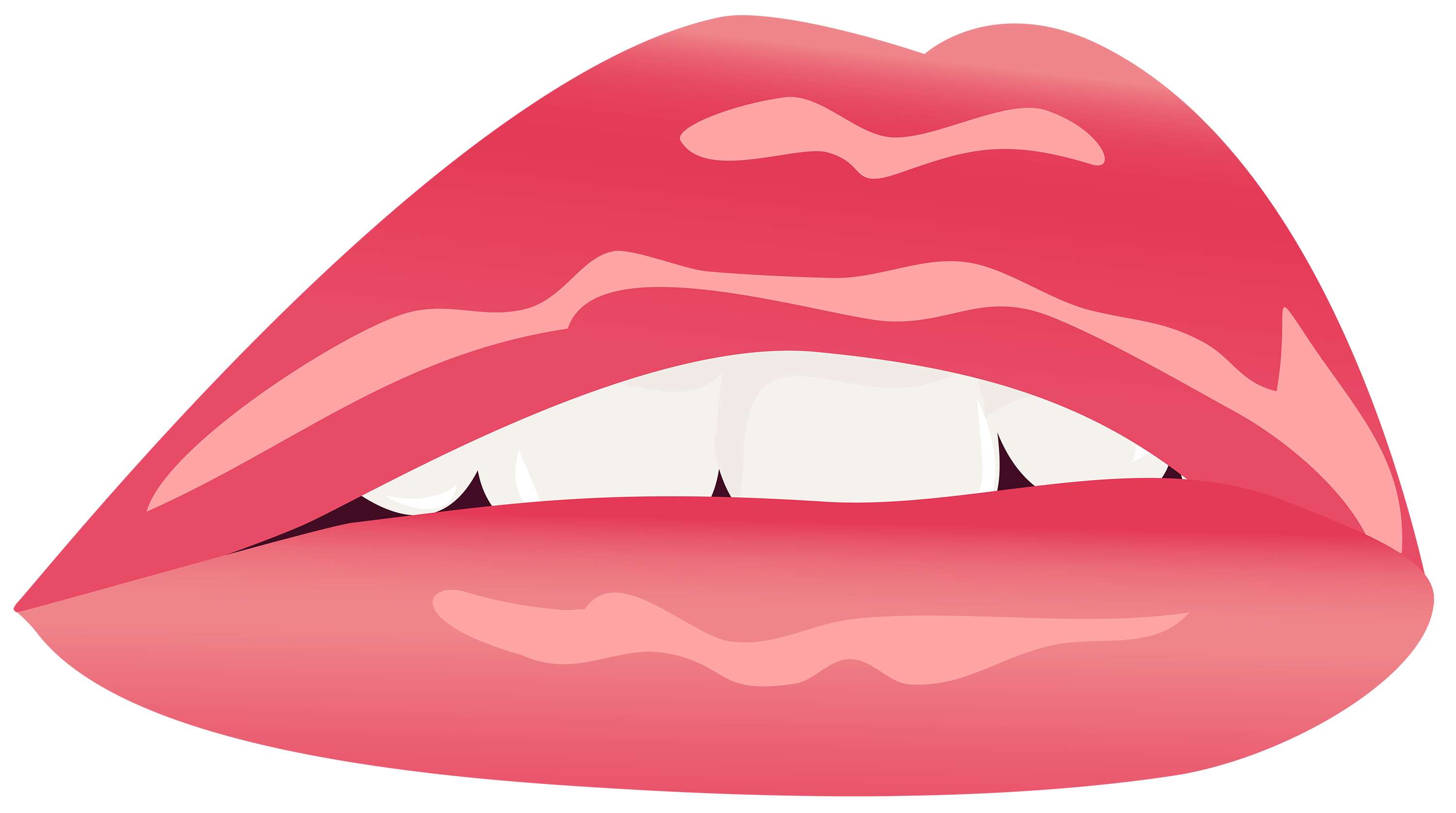 3000x1676 Red Lips Png Clipart Image