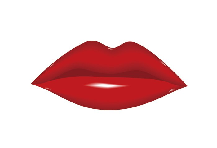 700x478 Image Of Red Lips Clipart