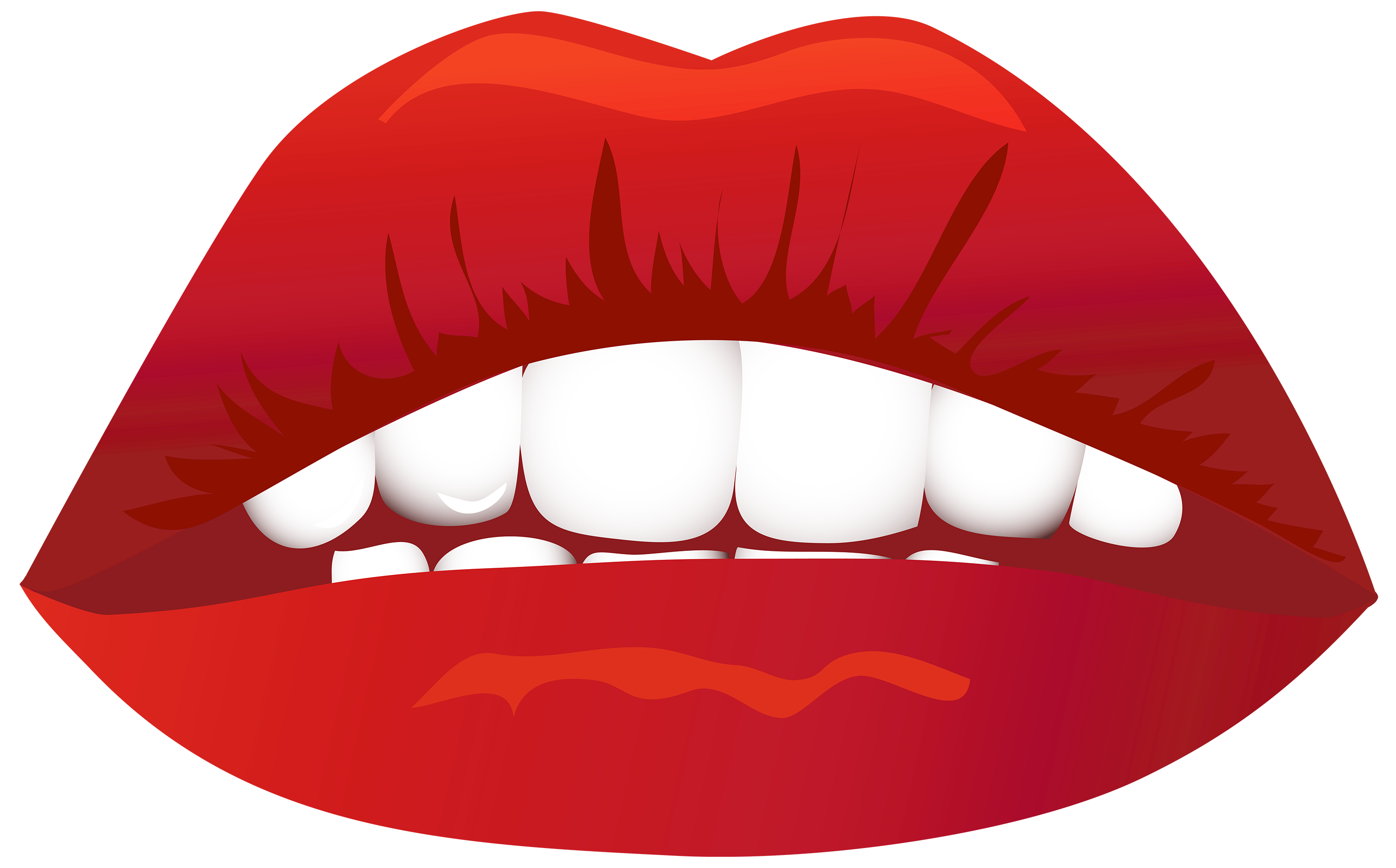 3000x1867 Lips Png Clipart Image