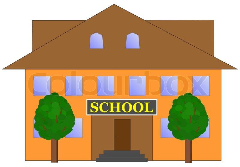 800x558 School Building Illustration Stock Photo Colourbox