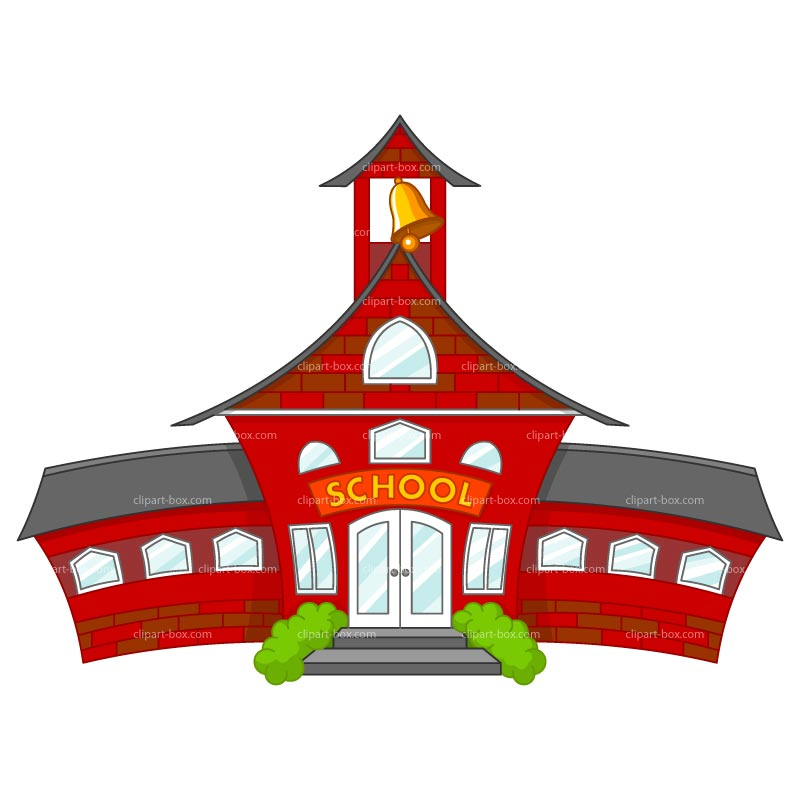 800x800 Free Clipart Of School Building