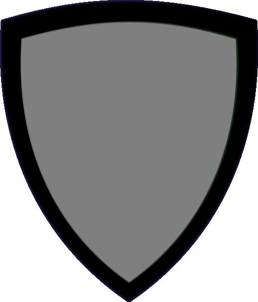 510x597 Gray Shield Clip Art