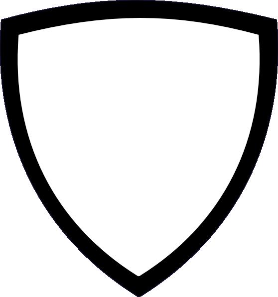 558x597 White Shield Clip Art