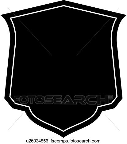 414x470 Clip Art Of , Basic, Blank, Border, Shield, Sign, Shapess