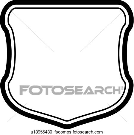 450x453 Clipart Of , Sign, Basic, Blank, Border, Shield, Panel, Shapes