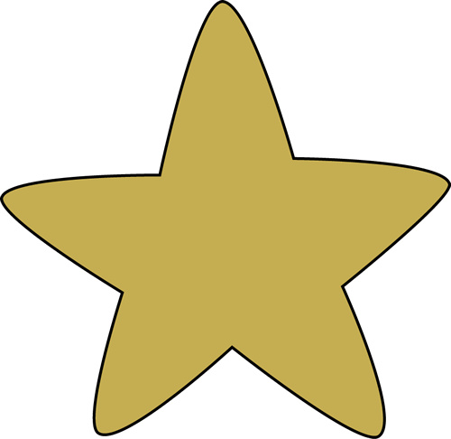 500x486 Gold Rounded Star Clip Art