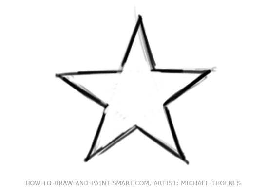 550x401 Star Clipart Sketch