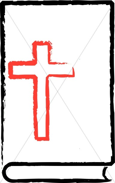 384x612 Red Cross On Black Outline Bible Bible Clipart