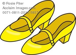 300x218 Yellow Sneaker Clipart