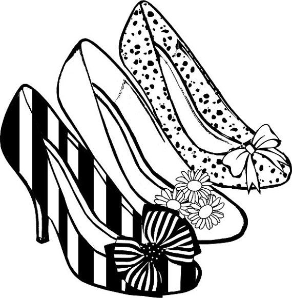 570x581 Sneaker Clipart Black And White