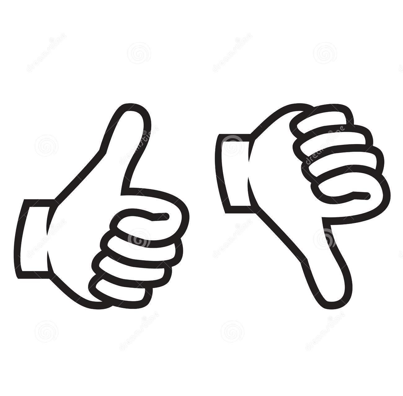1300x1278 Thumbs Up Thumbs Down Clipart