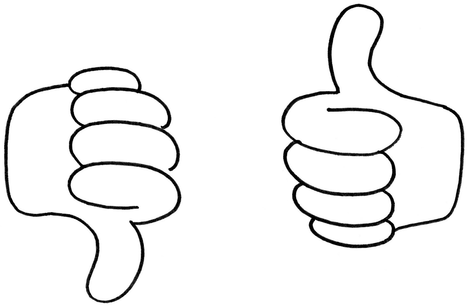 1600x1055 Thumbs Up Thumbs Down Clipart