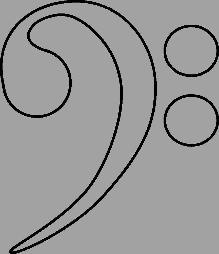 treble clef template