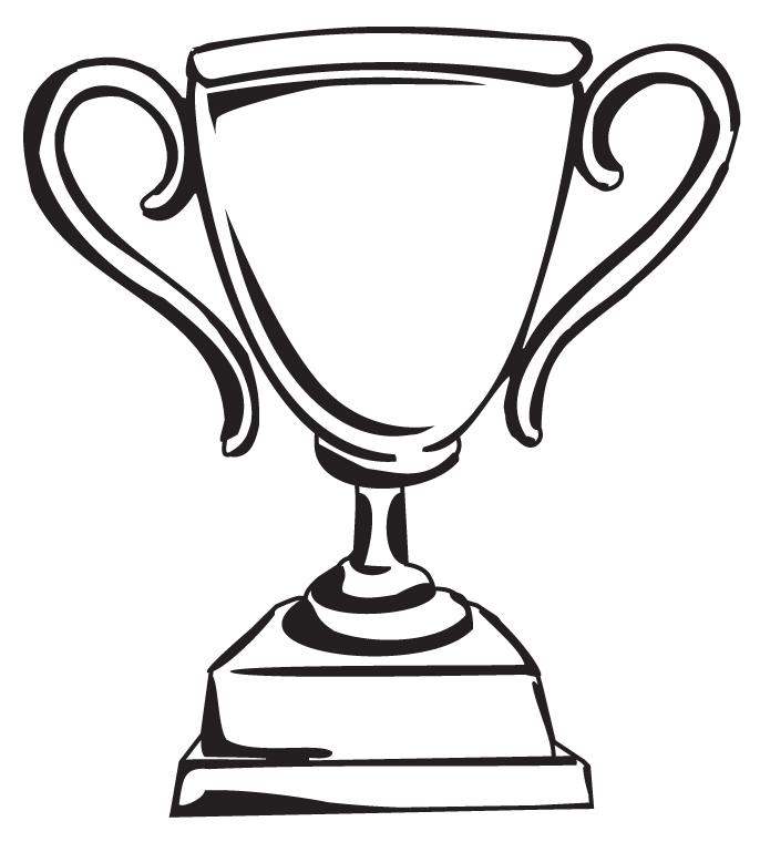 686x760 Trophy Clip Art Free Clipart Black White