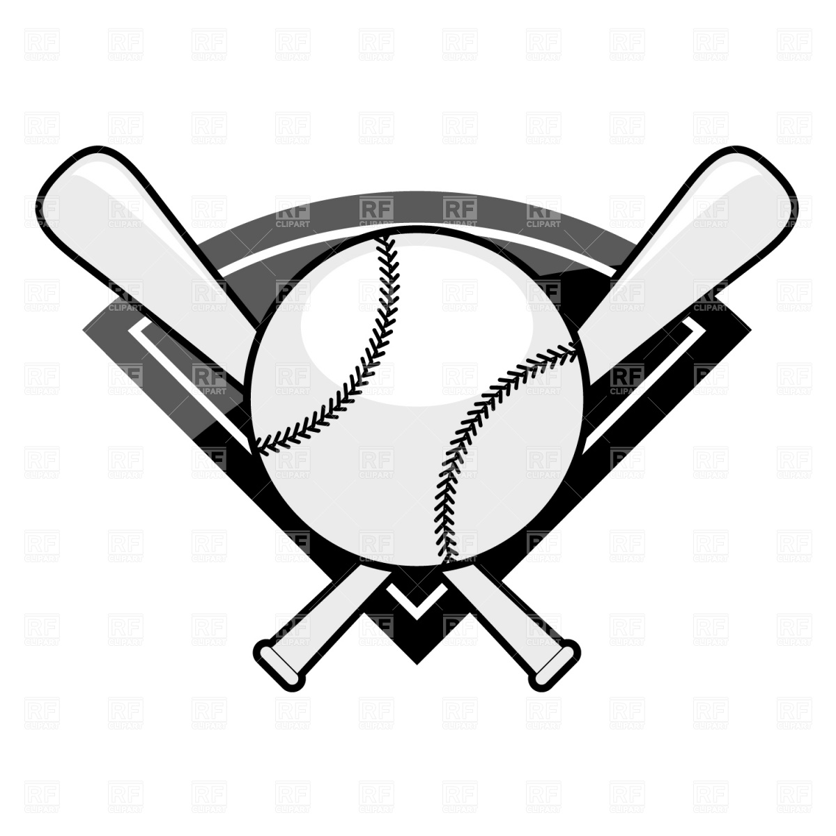 1200x1200 Bat Black And White Crossed Baseball Bats Clipart Black And White