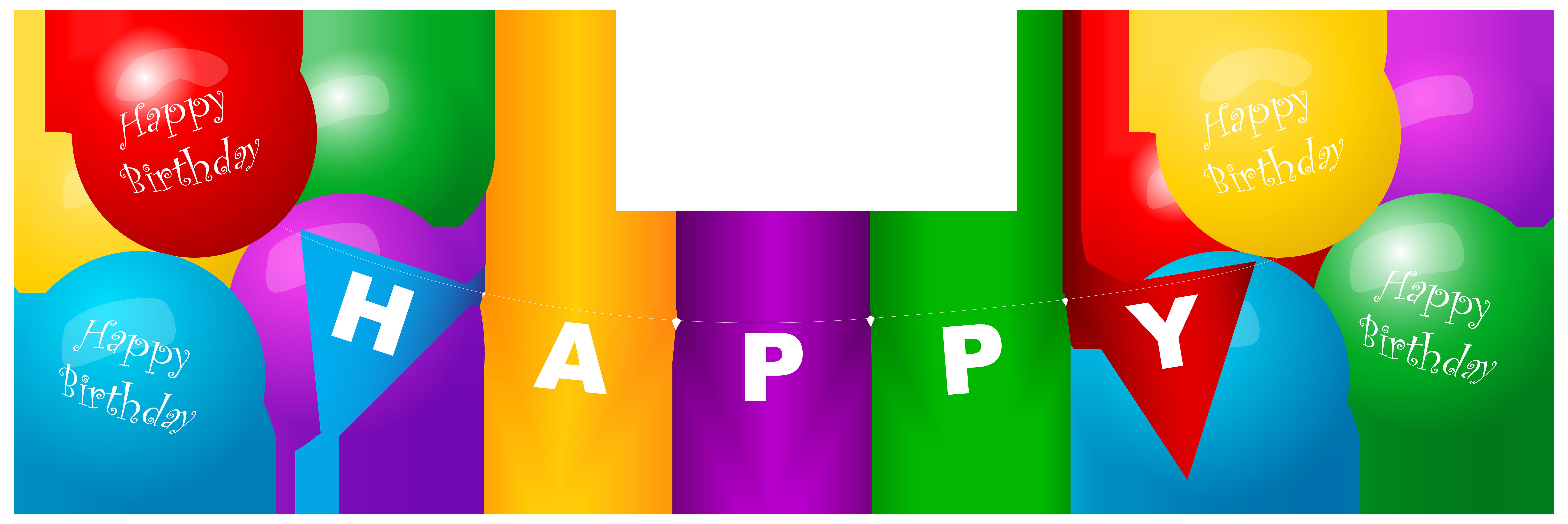 8000x2673 Happy Birthday Deco Balloons Png Clip Art Imageu200b Gallery
