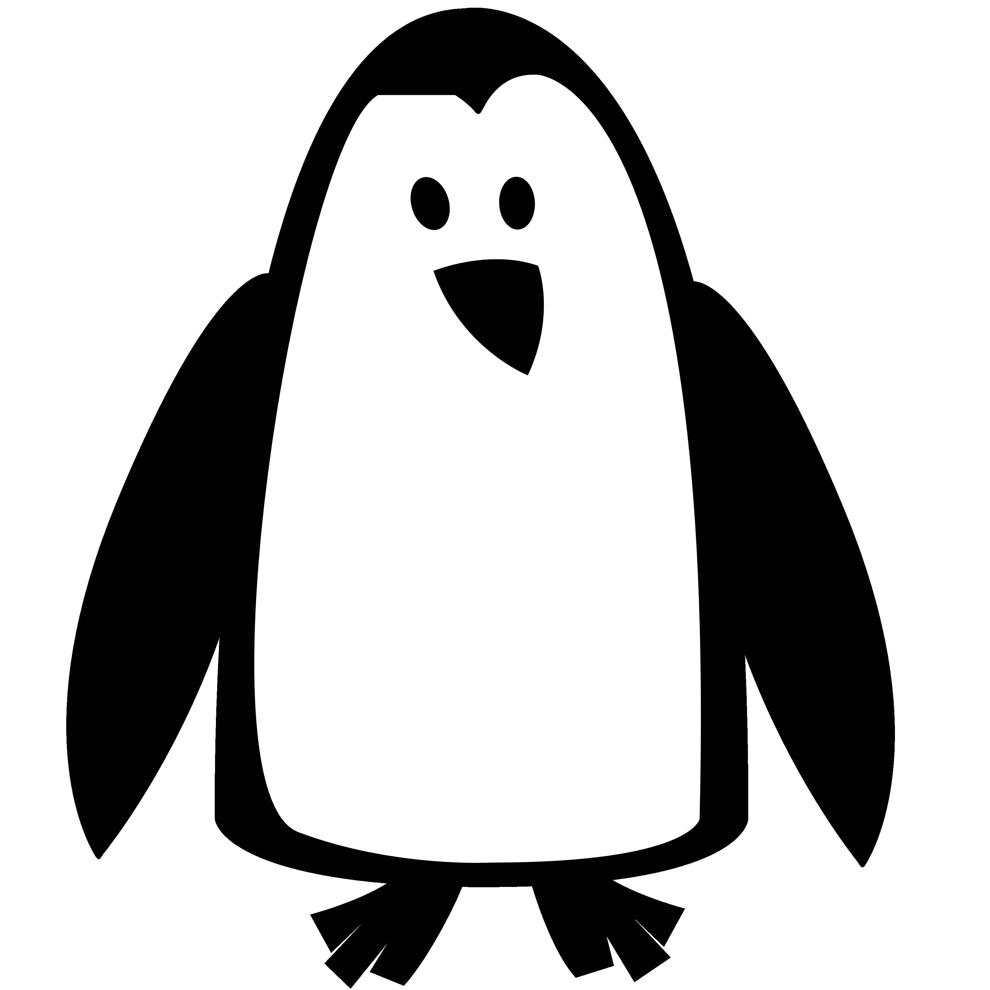 3333x3333 Penguin Black And White Penguin Clip Art Black And White Free
