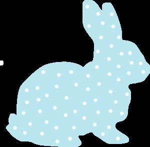 300x294 Bunny Clipart Polka Dot