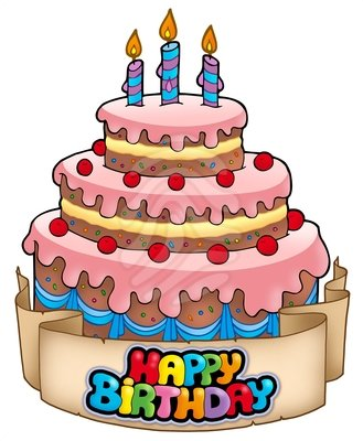 329x400 Image Of Birthday Cakes Clipart