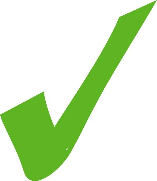 516x594 Check Clipart Green Check Mark Clip Art Free Vector In Open Office