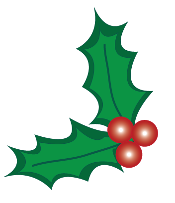 352x408 Christmas Holly Clipart