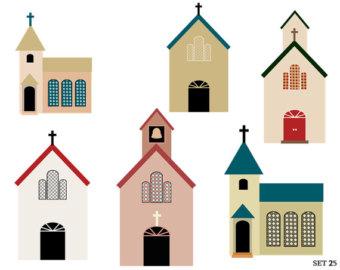 340x270 Church Clip Art Etsy