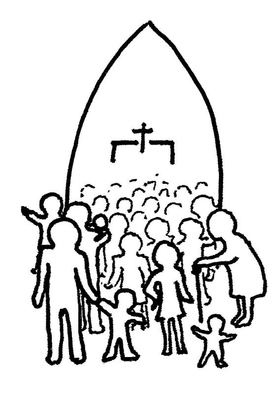564x805 Church People Free Clipart