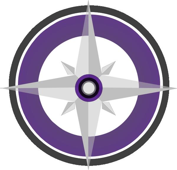 600x577 Purple Compass Rose Final Clip Art