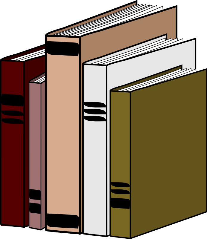 695x800 Free Row Of Books Clipart Image