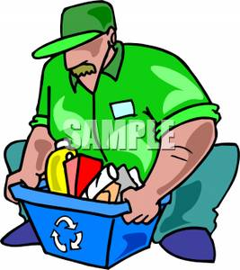267x300 Men Clipart Recycling