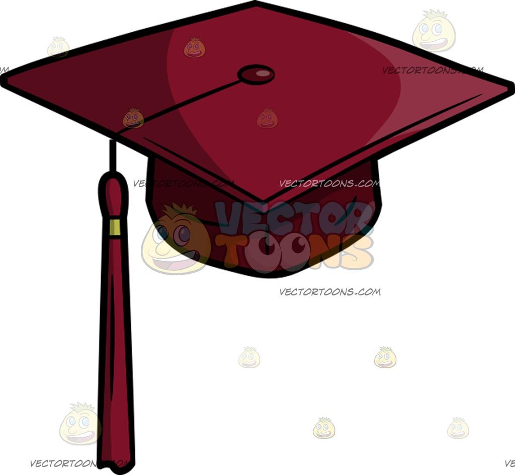 1024x944 A Senior Year Graduation Cap Cartoon Clipart