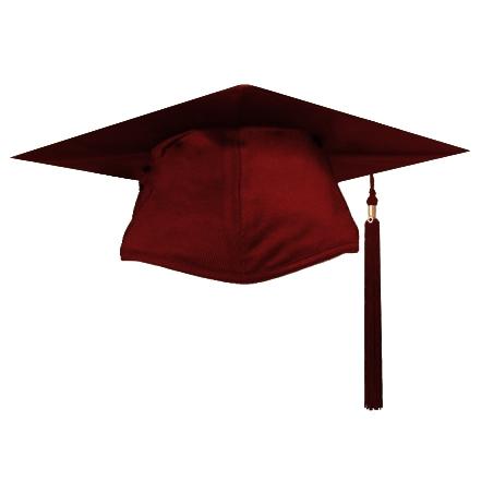 441x441 Maroon Graduation Cap Clipart