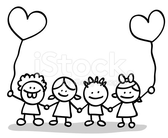556x459 Children Holding Hands Clip Art In Black And White 101 Clip Art