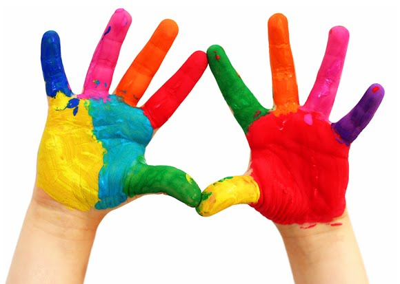 580x413 Paint Hands Cliparts