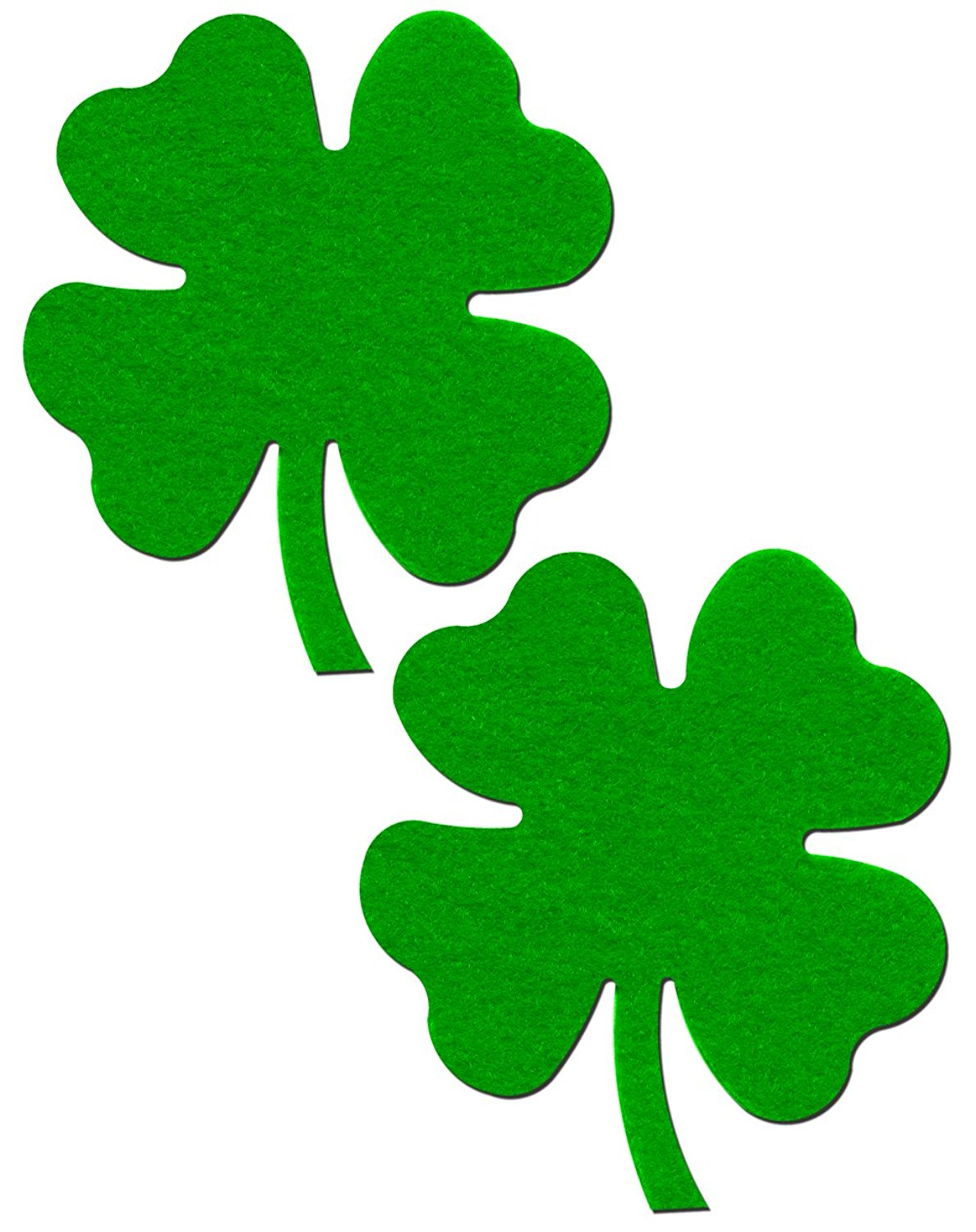 1188x1500 Shamrock Lucky Green 4 Leaf Clover Nipple Pasties By