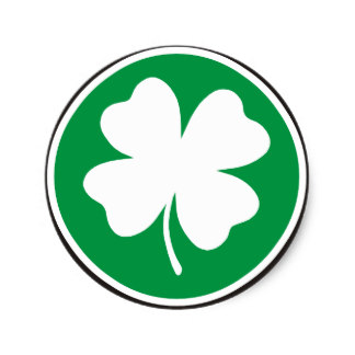 324x324 Four Leaf Clover Stickers Zazzle